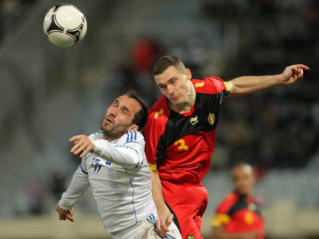 Thomas Vermaelen in action for Belgium