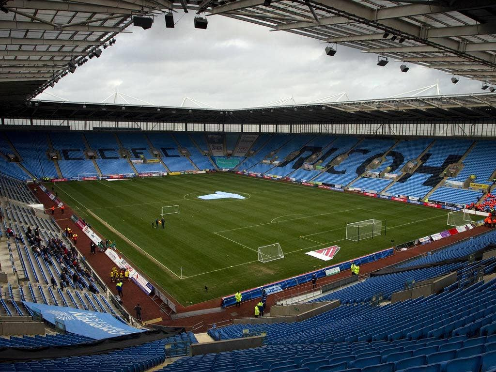 A view of Coventry's Ricoh Arena