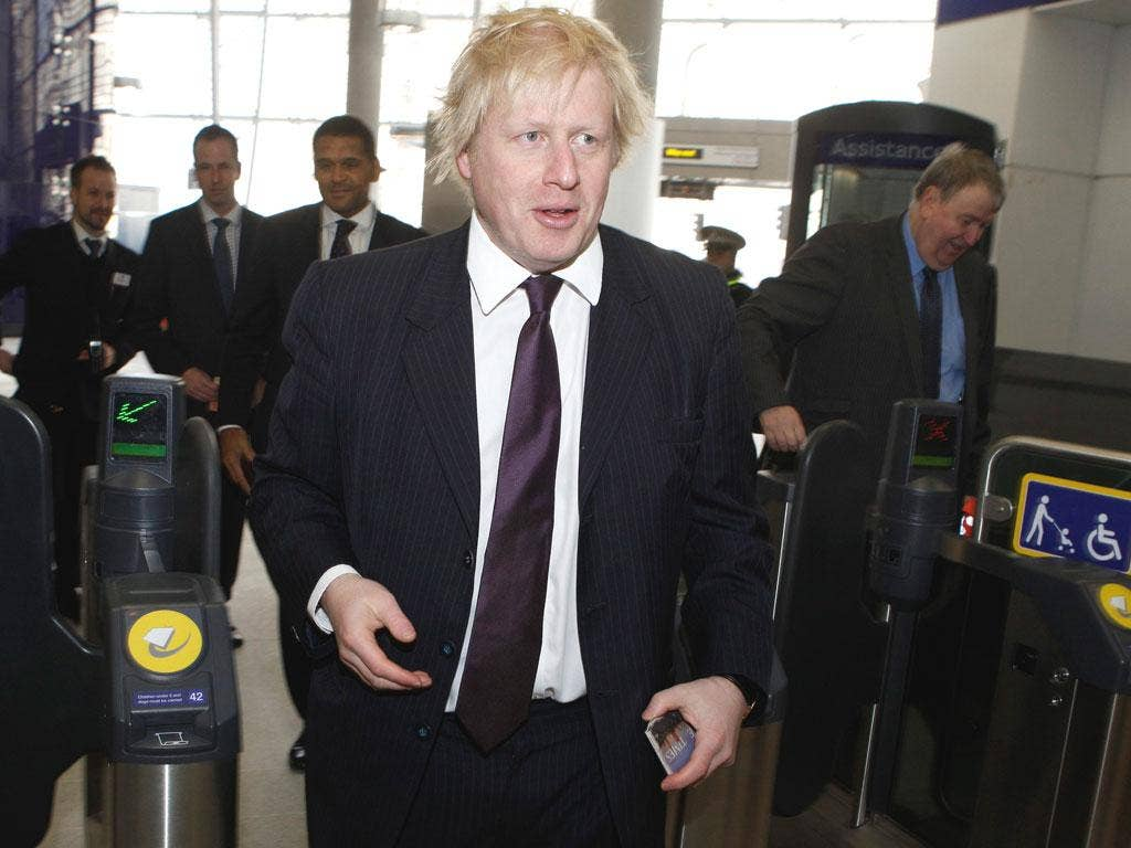 Punctuality has never been London Mayor Boris Johnson's strong point
