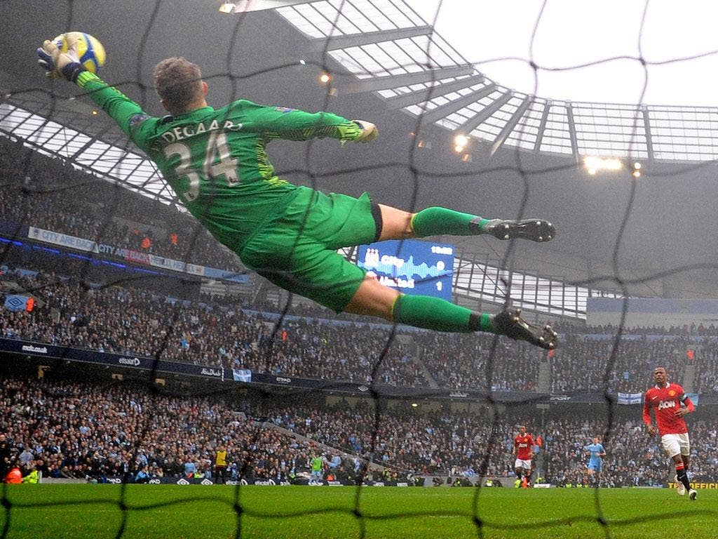 Anders Lindegaard had just broken into the Red Devils first team on a regular basis when he injured an ankle in training