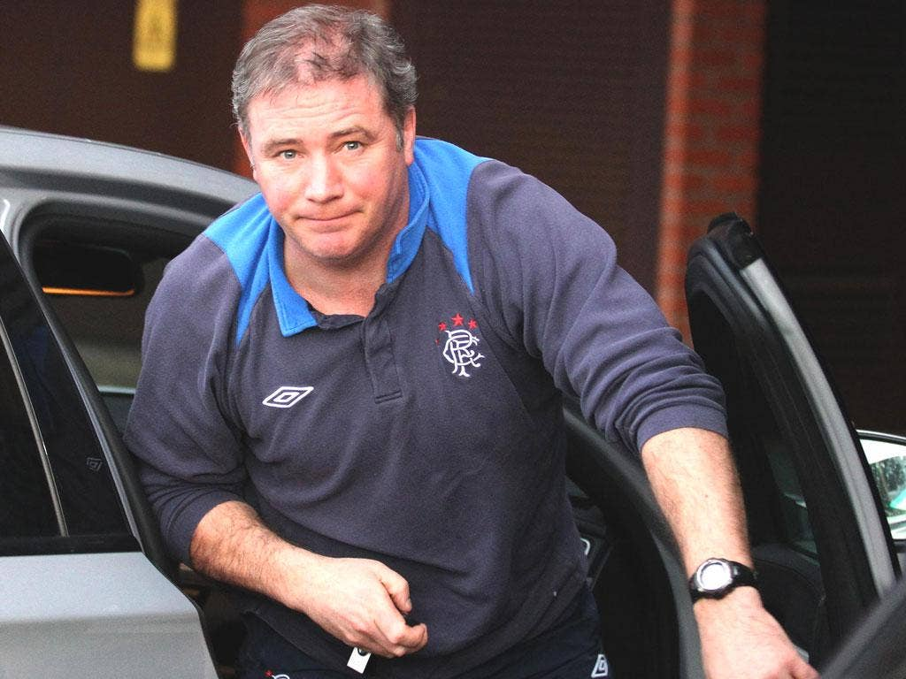 The Rangers manager, Ally McCoist, knows his squad faces severe cost-cutting measures to keep the financially beleaguered club alive