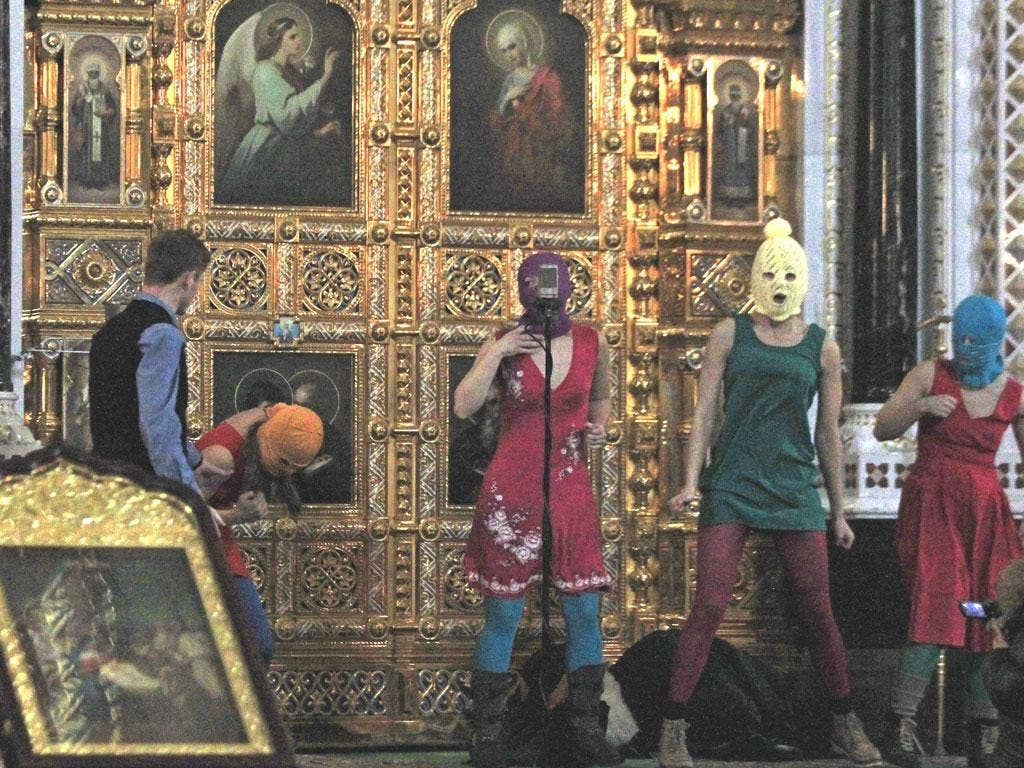 Seven years in jail for performing a punk gig on the altar at Moscow's biggest cathedral