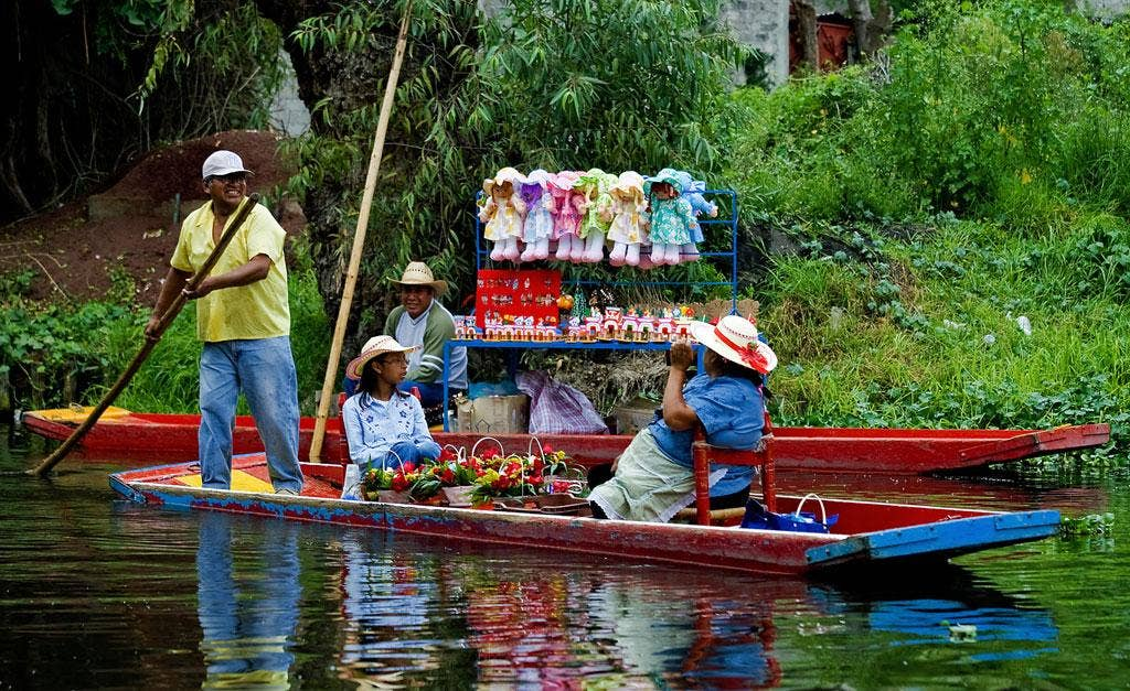 For sail: Vendors on Xochimilco canal