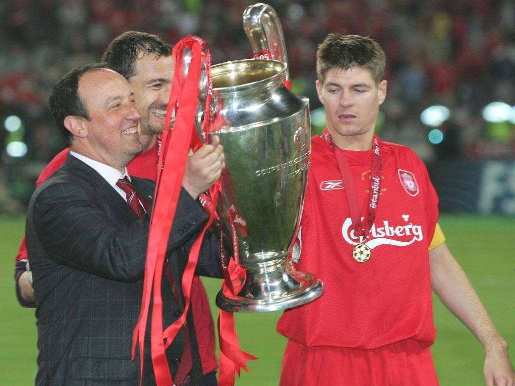 Rafa Benitez does have a European Cup win on his CV