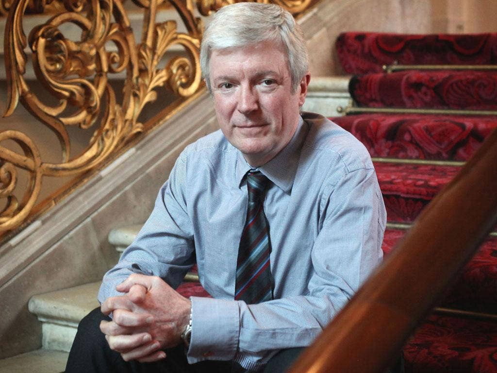 "Lord Hall, who is expected to take a salary of £450,000 per year: ""I believe passionately in the BBC and that's why I have accepted Lord Patten's invitation to become Director General."