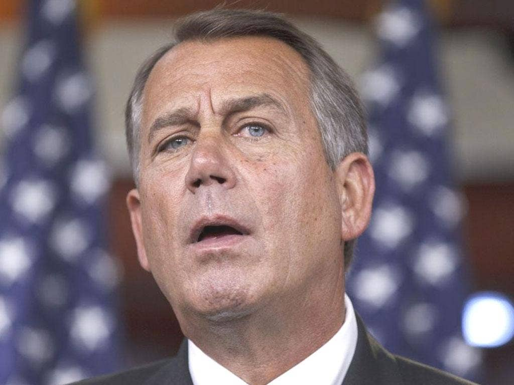 JOHN BOEHNER: David Cameron will meet the House Speaker – but will not see any of the Republican presidential hopefuls