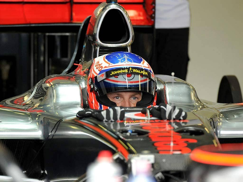 Jenson Button in the new McLaren
