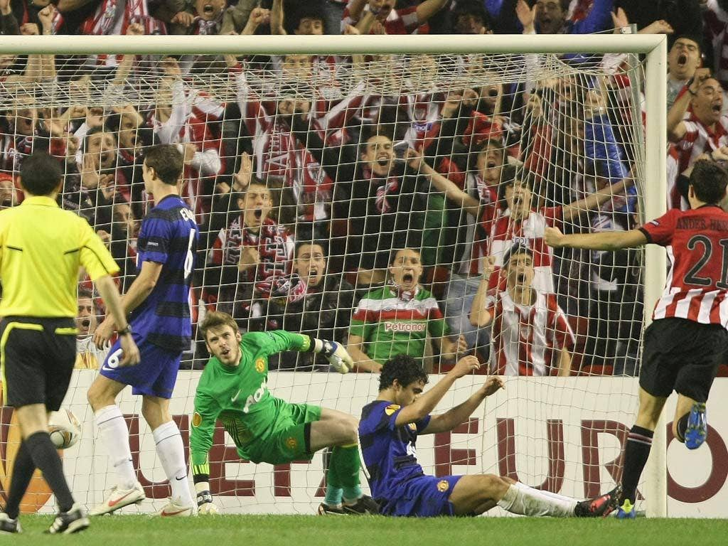 Manchester United concede against Bilbao
