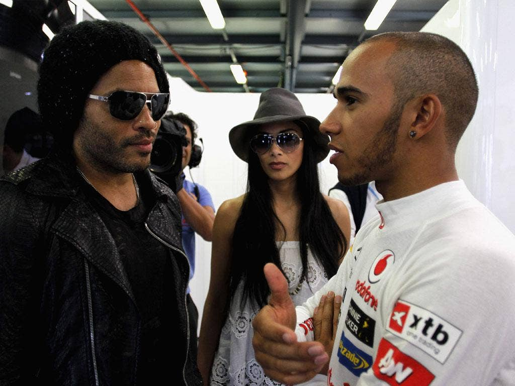 "Lewis Hamilton: ""No, I'm not gonna go your way, I'm turning left"" (16/01/12) <br/><br/> <a href=""http://www.independent.co.uk/captions"" target=""new"">To enter the current caption competition, click here.</a>"