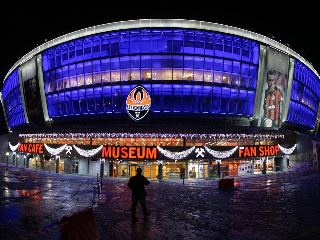 The Donbass Arena where England play twice