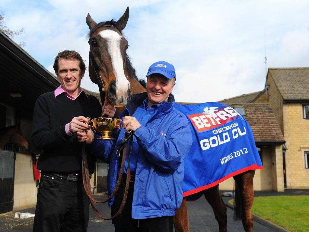 Golden day: Tony McCoy and Jonjo O'Neill with Synchronised and the Gold Cup