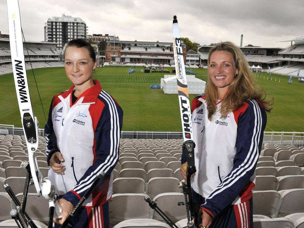 Amy Oliver (left) and Alison Williamson at Lord's, the venue for the London 2012 archery