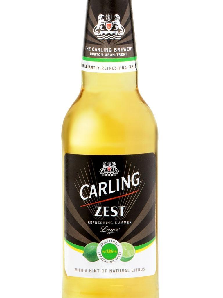 Carling Zest, at 2.8 per cent, hit supermarket shelves a fortnight ago