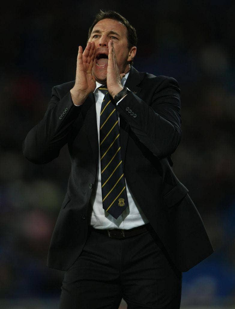 MALKY MACKAY: The Cardiff manager says they are still in 'touching distance of the play-offs'