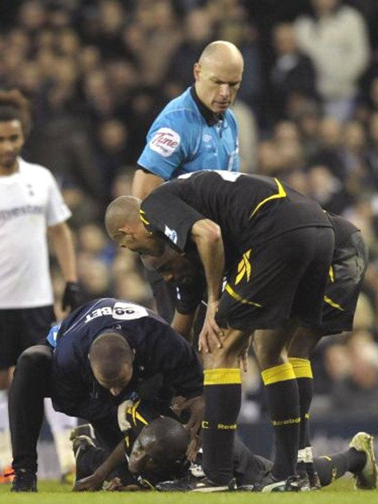 Howard Webb took the decision to abandon Saturday's game at Spurs