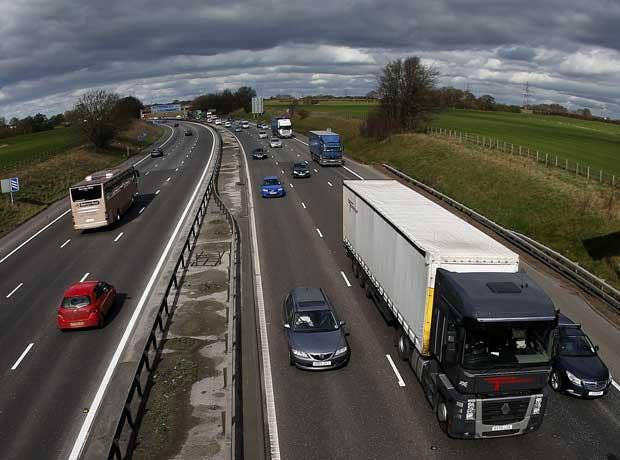 The M6 Toll road is carrying less than half the number of cars it was designed for
