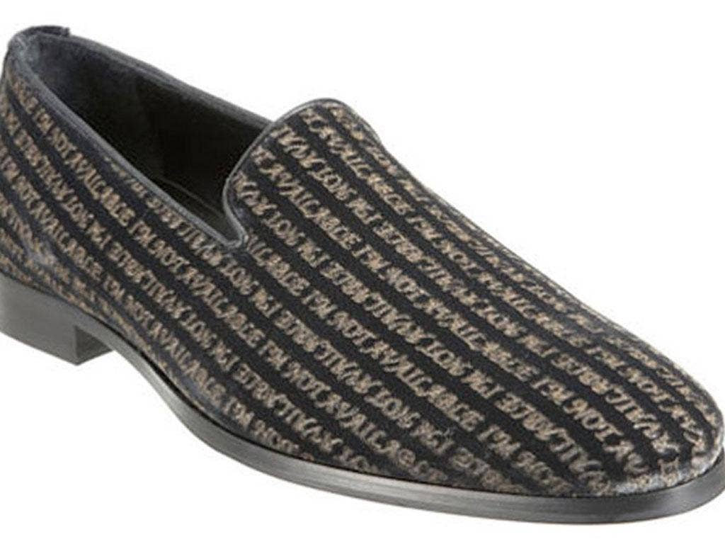'I'm not available' Arfango's loafers