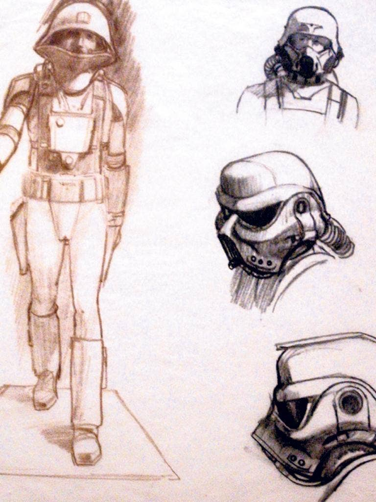 Some of the 'Star Wars' designs by McQuarrie