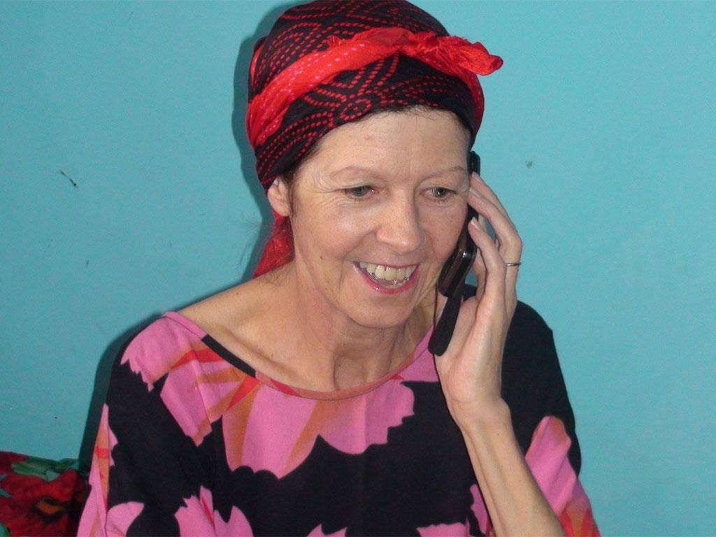 Judith Tebbutt, who was kidnapped six months ago, was handed to British officials in Nairobi yesterday