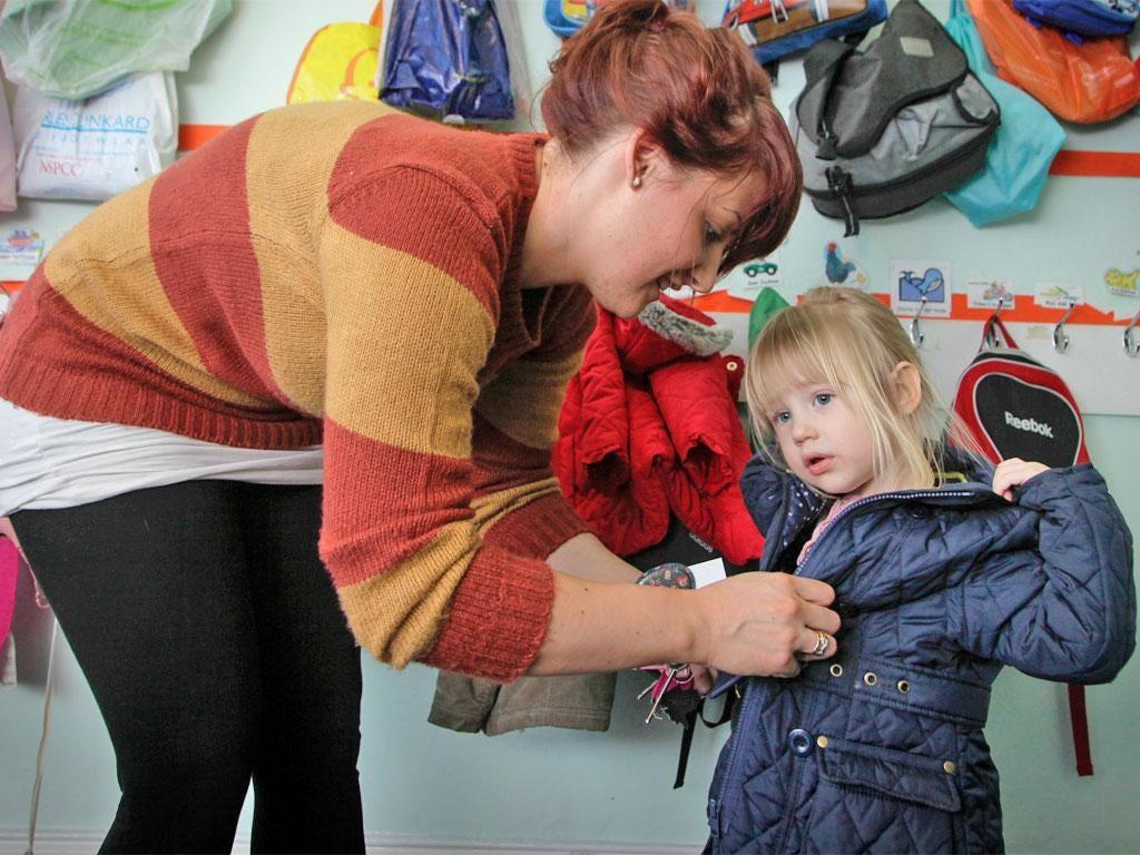 Nicola Palmer and her daughter Chloe at Jesmond Nursery
