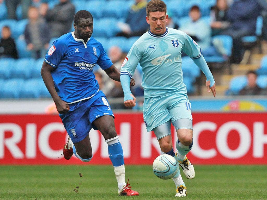 Cody McDonald's own goal was a nightmare for relegation-threatened Coventry but lifts the Bluebirds