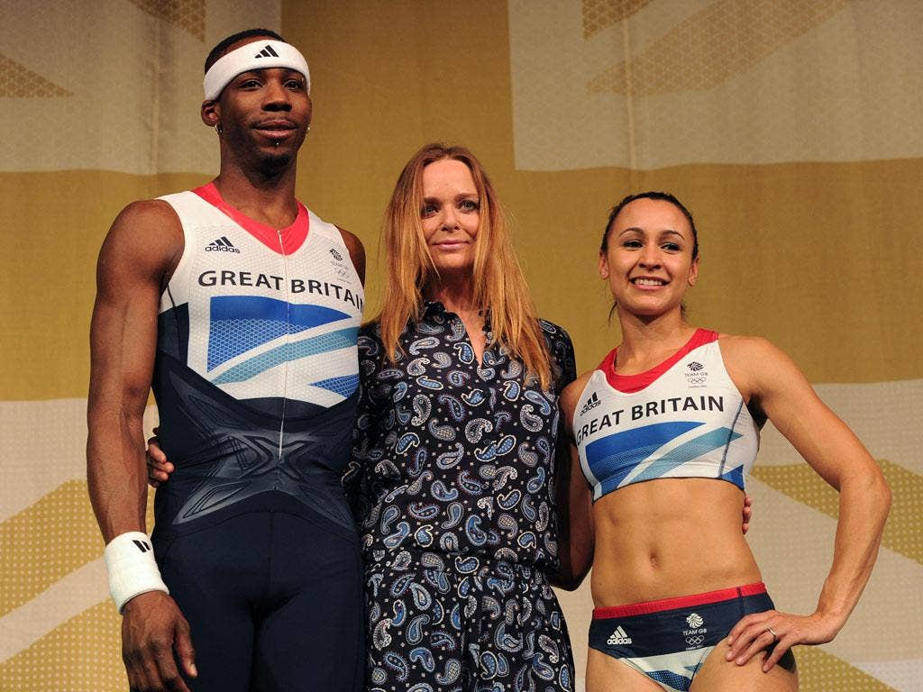 """Stella Mcartney: """"Well he was so tall I didn't have enough material left to complete the other outfit."""" (23/03/12) <br/><br/> <a href=""""http://www.independent.co.uk/captions"""" target=""""new"""">To enter the current caption competition, click here.</a>"""