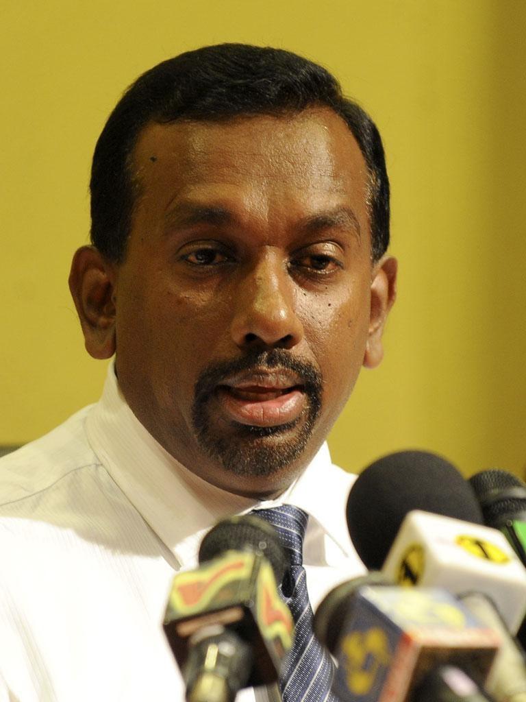 Sri Lanka's sports minister Mahindananda Aluthgamage