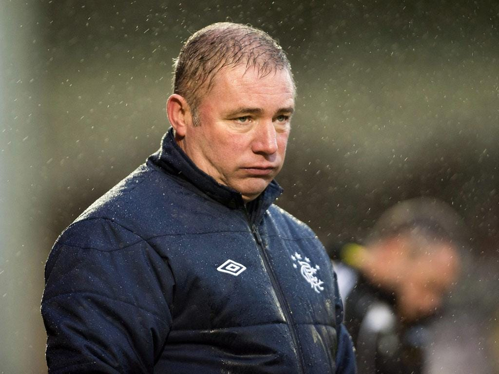 Looking Grim: Rangers manager Ally McCoist has spent more time in crisis meetings than on the training ground as he helps the administrators search for a new owner