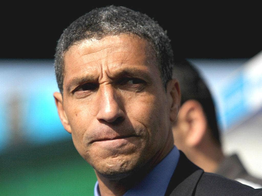 CHRIS HUGHTON: 'Their goal is the only chance they had in 95 minutes,' said Blues manager