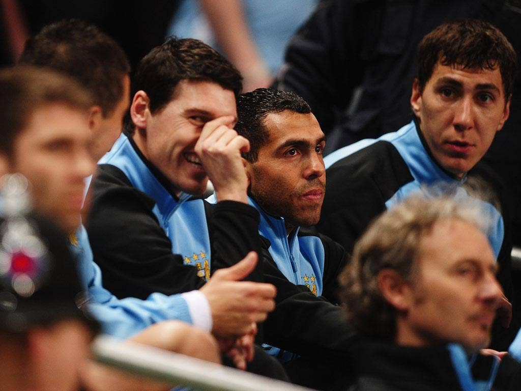 Gareth Barry will Carlos Tevez