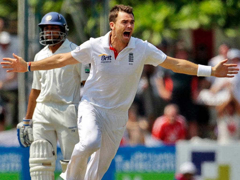 JAMES ANDERSON: The England fast bowler dropped two catches on day one at Galle
