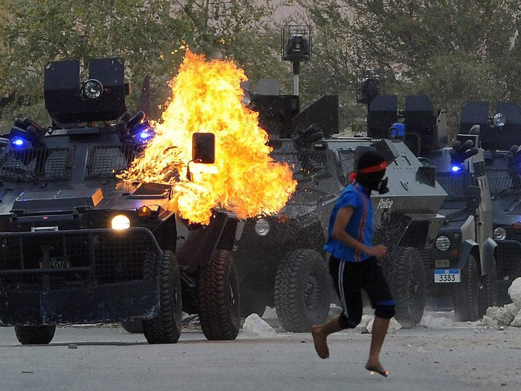 At the height of unrest in Bahrain, the British Government said it would review arms exports to the country