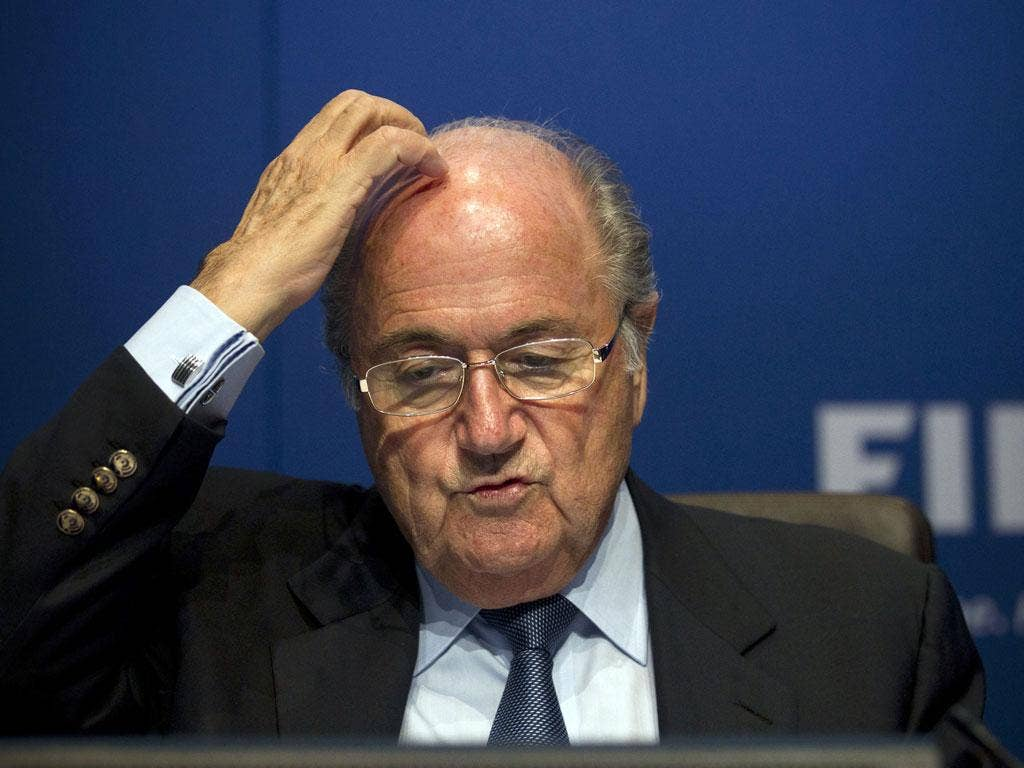 Sepp Blatter: Fifa's president called it 'a historic day' but did not give full backing to the Pieth report