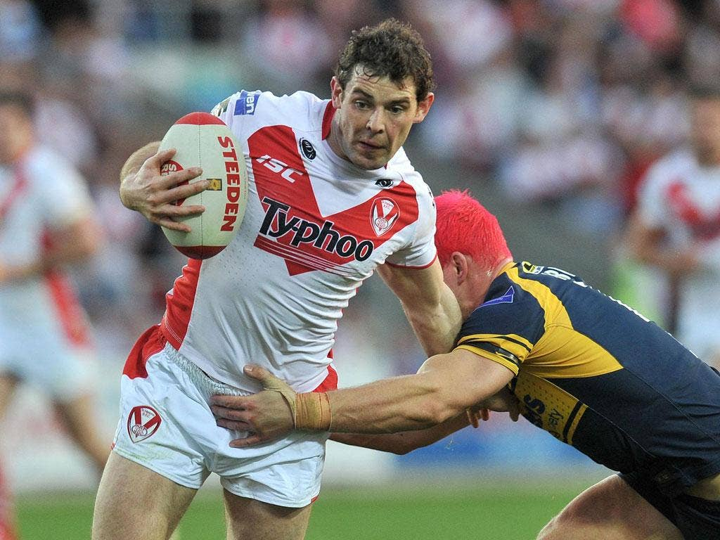 Paul Wellens: The full-back scored two early tries to put St Helens in charge last night