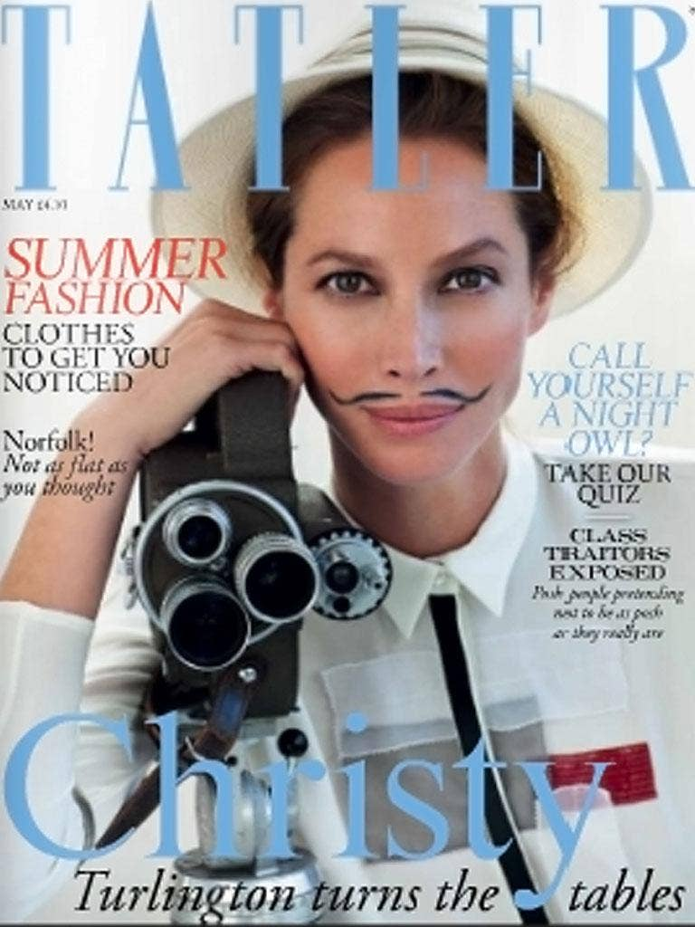 Chic moustaches feature on May's Tatler magazine