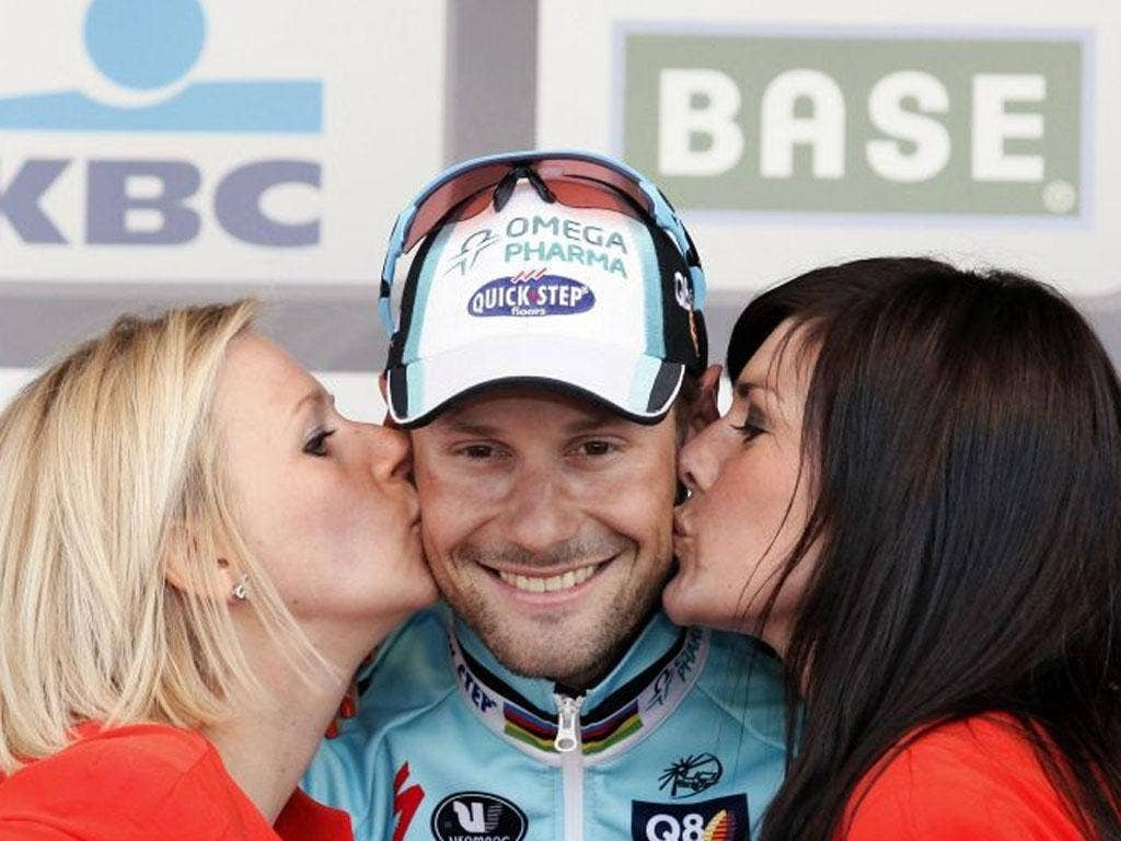 Tom Boonen enjoys his victory