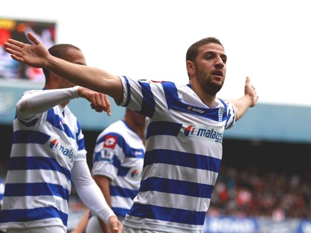QPR's Adel Taarabt celebrates
