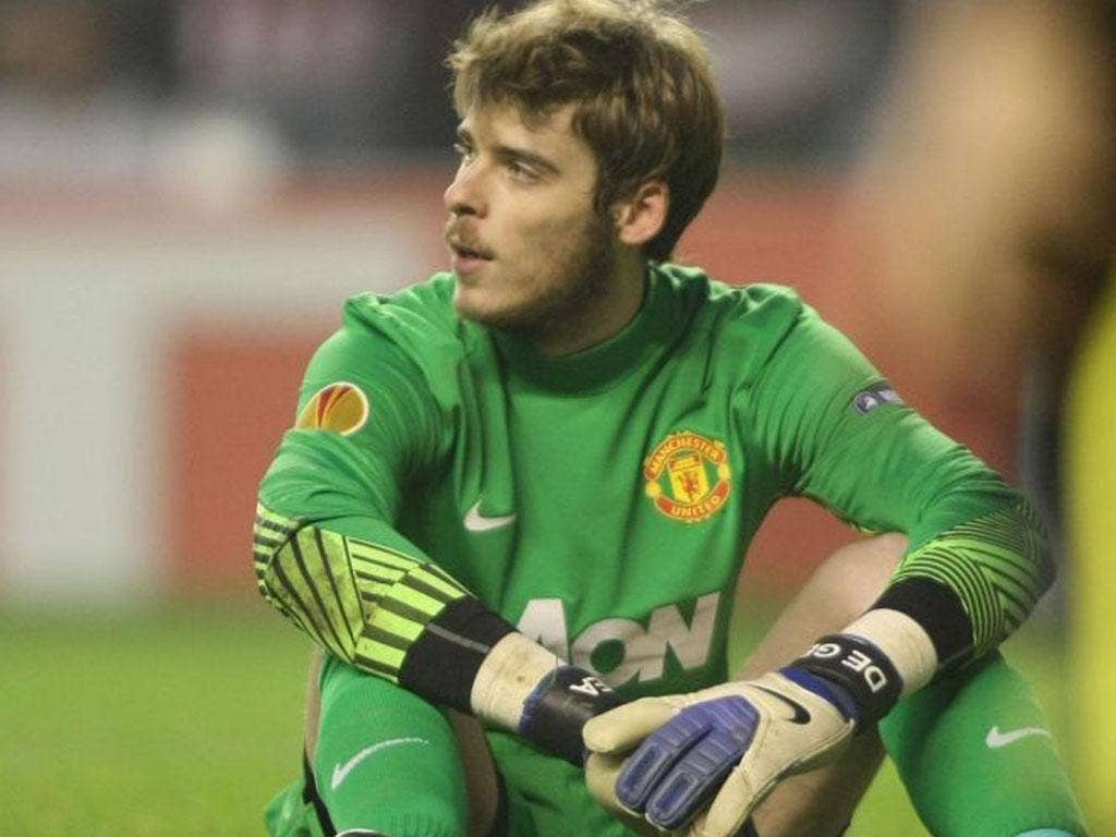 DAVID DE GEA: United manager Sir Alex Ferguson says of his keeper: 'The thing is he has stood up as a man'