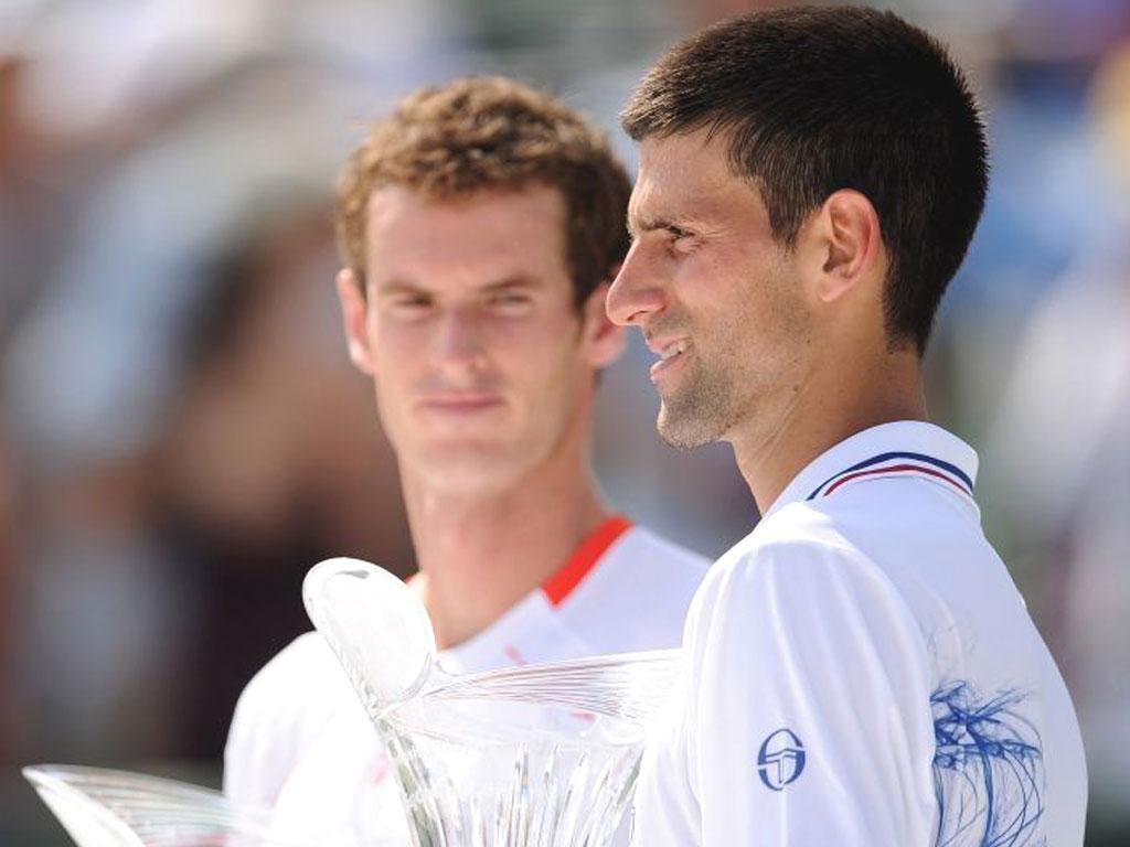 Novak Djokovic beats Murray at the Sony Ericsson Open at Crandon Park Tennis Center in Key Biscayne, Florida