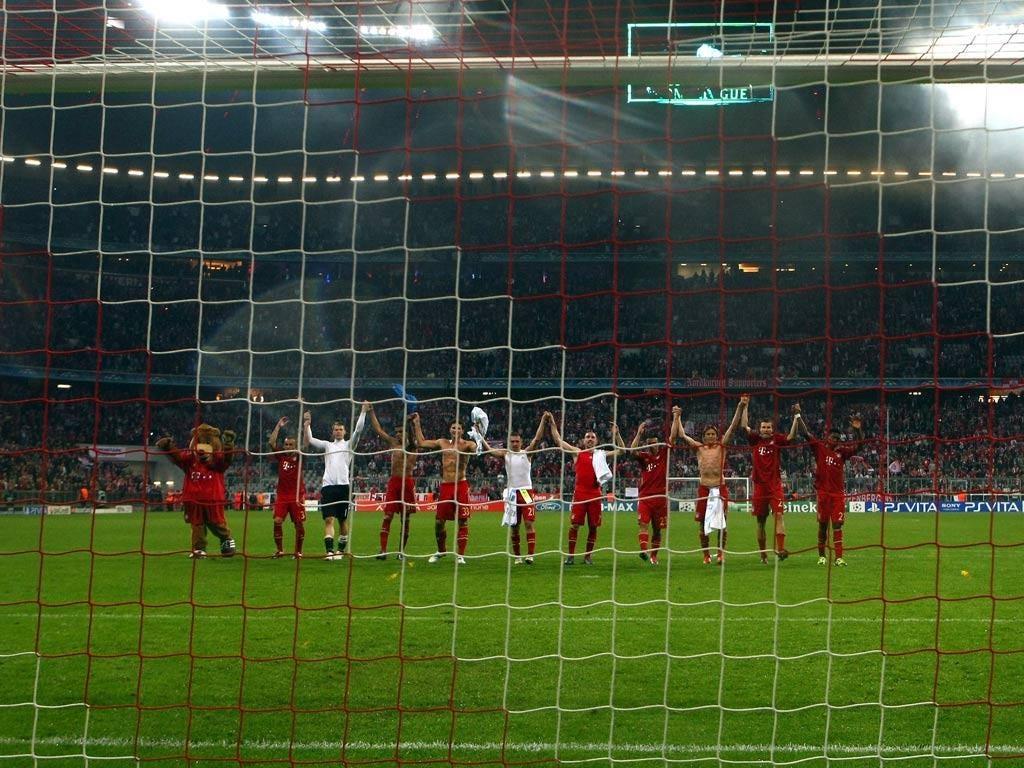 Bayern celebrate victory
