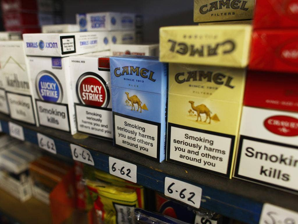 The new law will prevent large shops and supermarkets displaying tobacco products to the public.