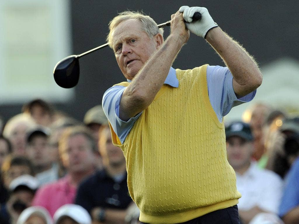 Jack Nicklaus the six-time winner of the Green Jacket