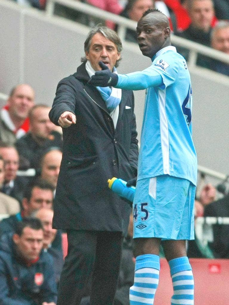 Roberto Mancini has had a good relationship with Mario Balotelli