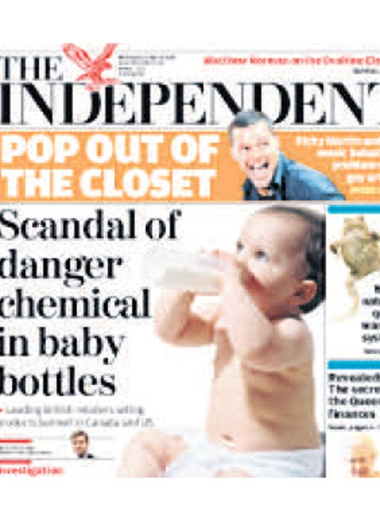 The BPA investigation: In 2010 The Independent highlighted concerns about BPA, revealing that Boots and Mothercare were selling baby bottles made with BPA despite many manufacturers phasing it out