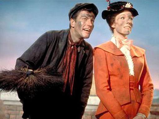Dick Van Dyke and Julie Andrews in Disney's version of Mary Poppins