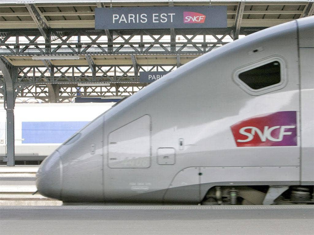 The French fast train TGV