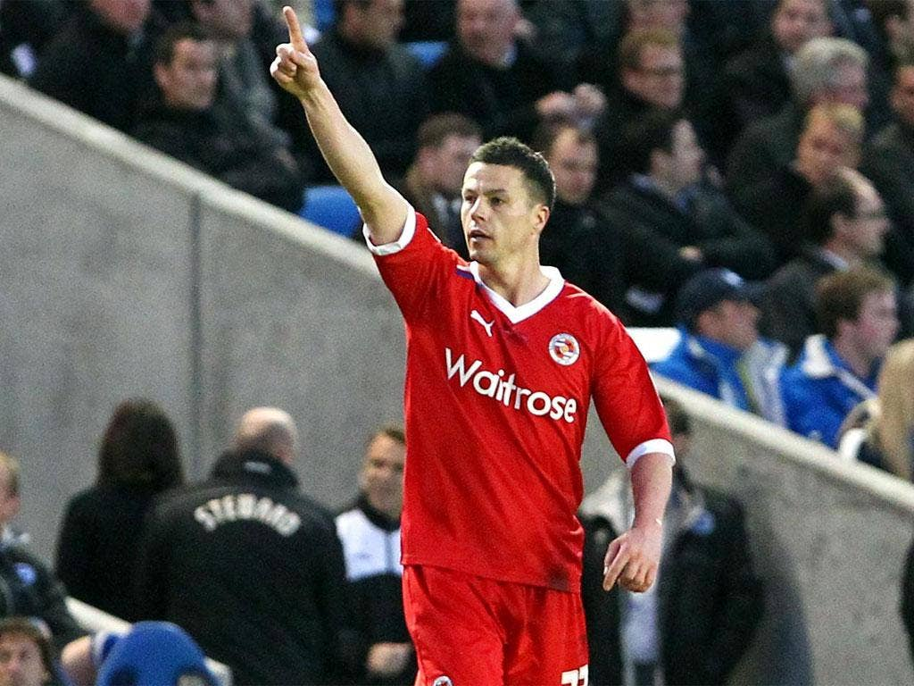 Harte's 14th-minute goal proved enough to maintain Reading's push for promotion
