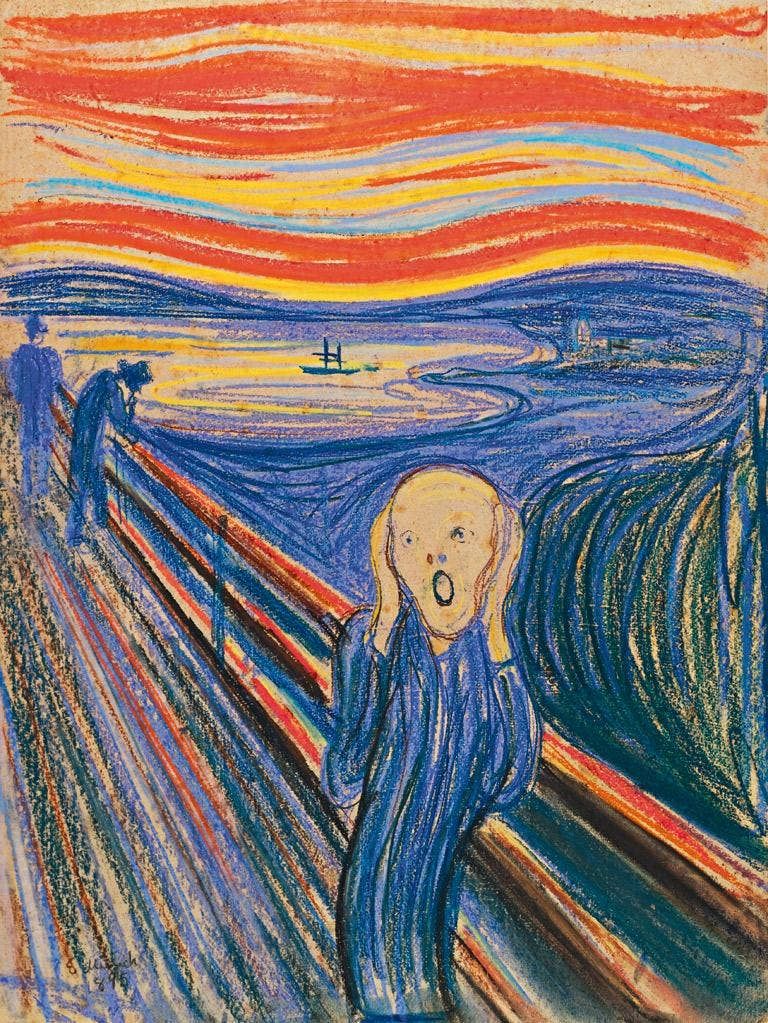 Edvard Munch's 'The Scream' which Sotheby's are selling in New York