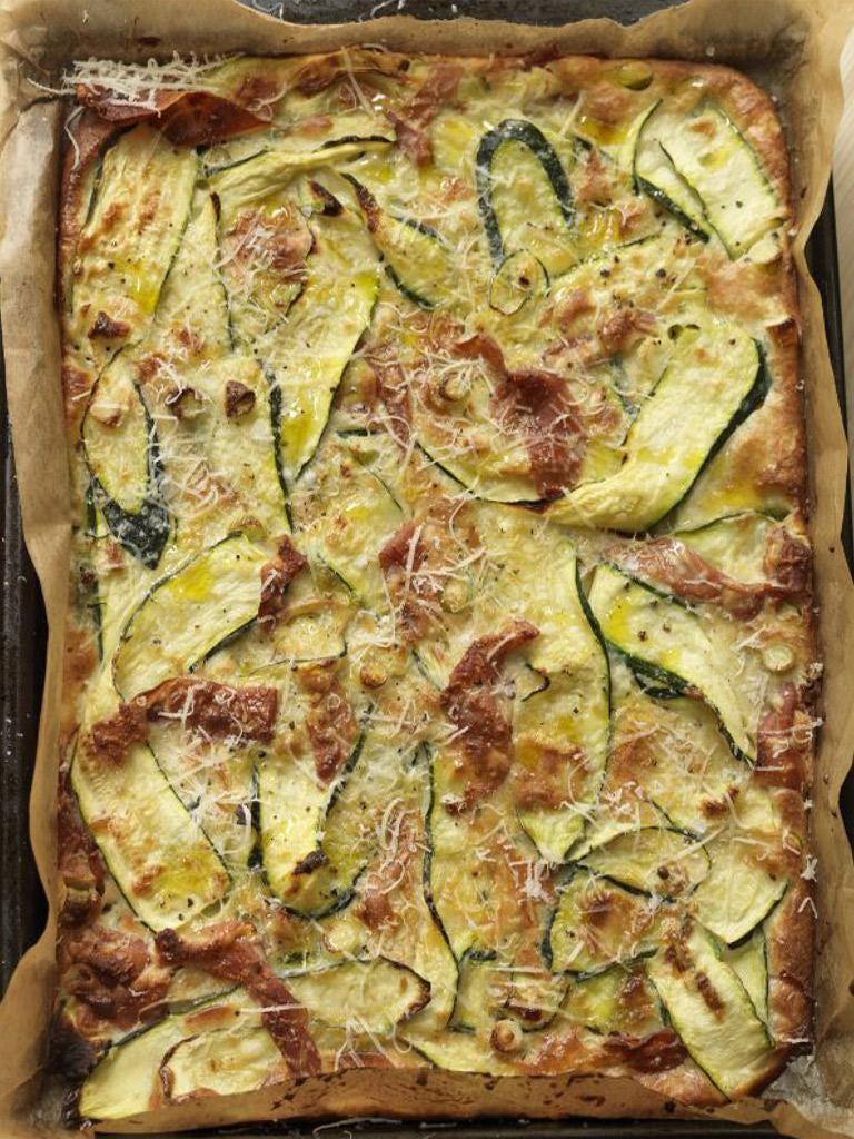 Courgette tart (Scarpaccia)