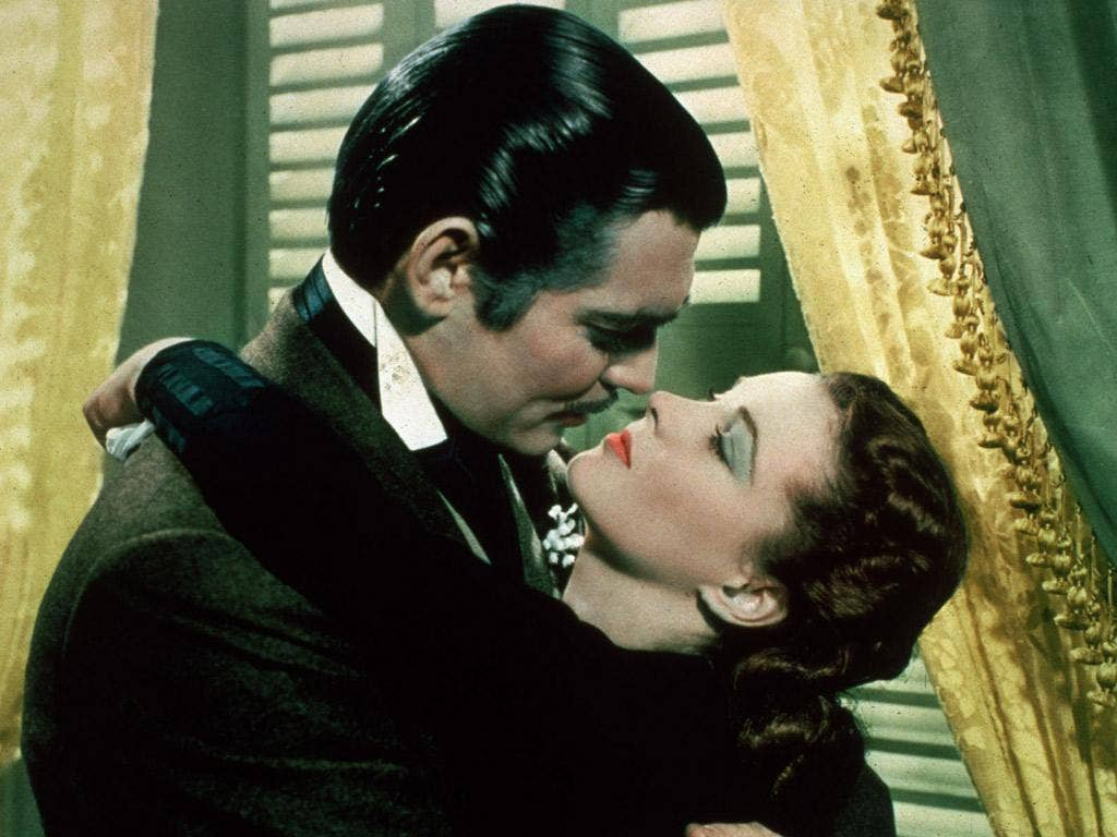 A still from the 1939 film version of Margaret Mitchell's 'Gone with the Wind'